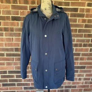 Brooks Brothers navy blue parka jacket women's M